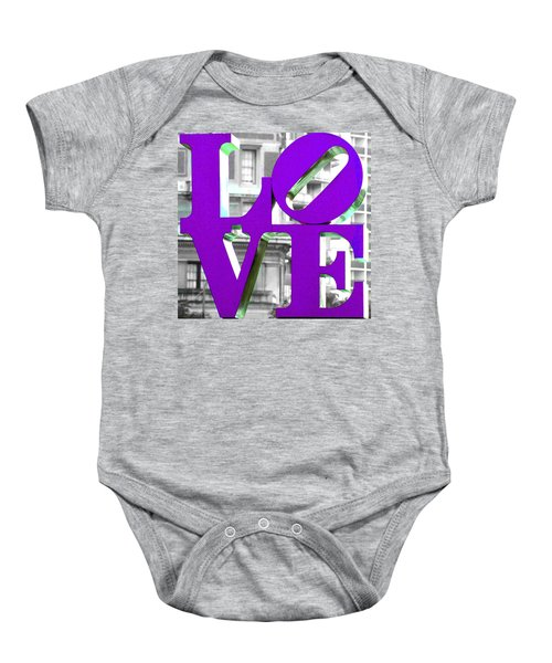 Love Philadelphia Purple Baby Onesie