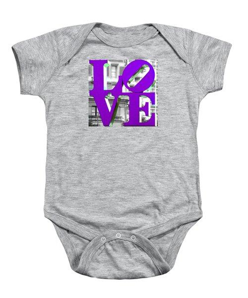 Love Philadelphia Purple Baby Onesie