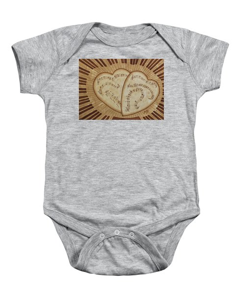 Baby Onesie featuring the painting Love Song Of Our Hearts by Georgeta Blanaru