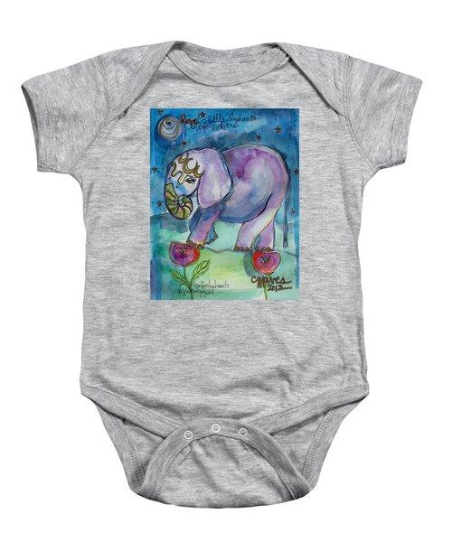Lovely Little Elephant2 Baby Onesie