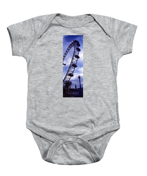 Low Angle View Of The London Eye, Big Baby Onesie by Panoramic Images