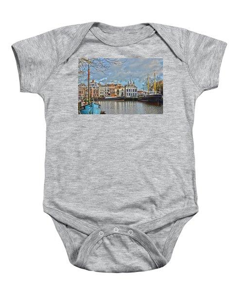 Maassluis Harbour Baby Onesie