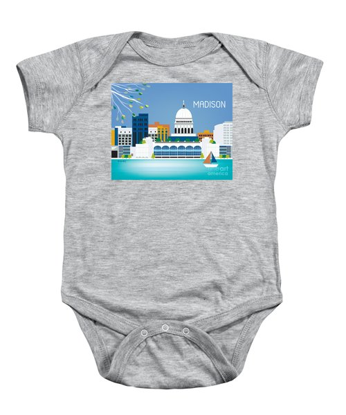 Madison Baby Onesie by Karen Young