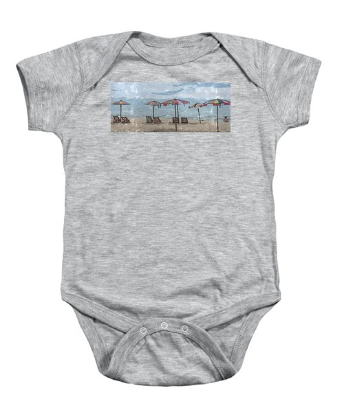 Malazy Day At The Beach Baby Onesie