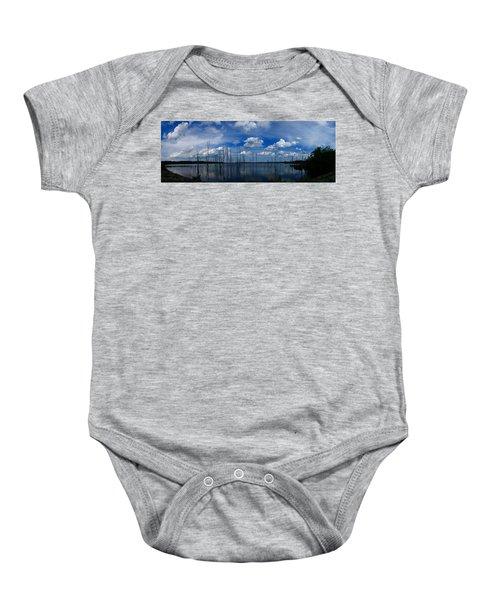 Manasquan Reservoir Panorama Baby Onesie