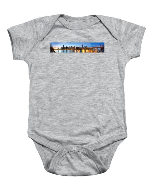 Manhattan Panorama And Queensboro Bridge Baby Onesie