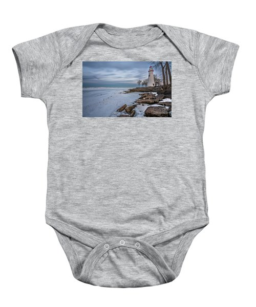 Marblehead Lighthouse  Baby Onesie by James Dean