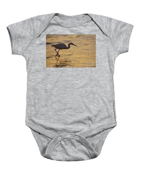 March Of The Egret Baby Onesie