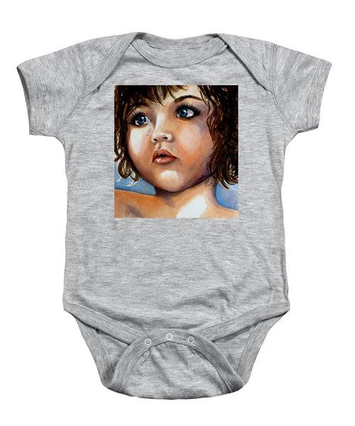 Crying Blue Eyes Baby Onesie