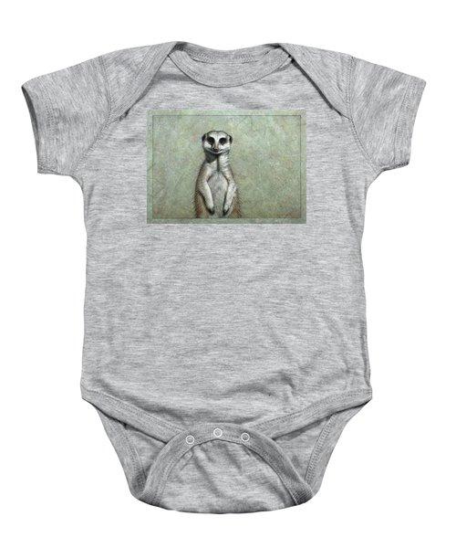 Meerkat Baby Onesie by James W Johnson