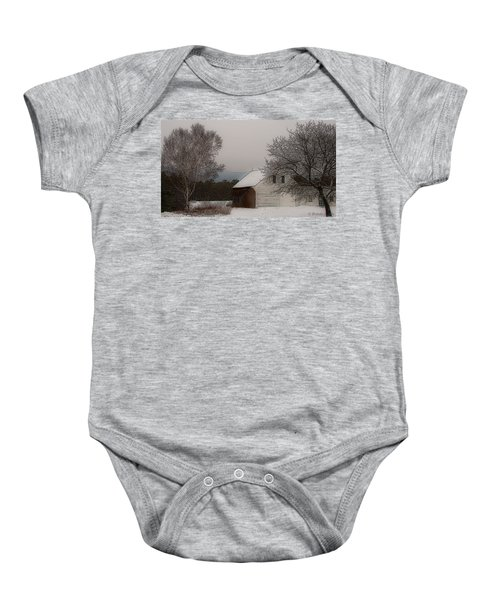 Melvin Village Barn Baby Onesie