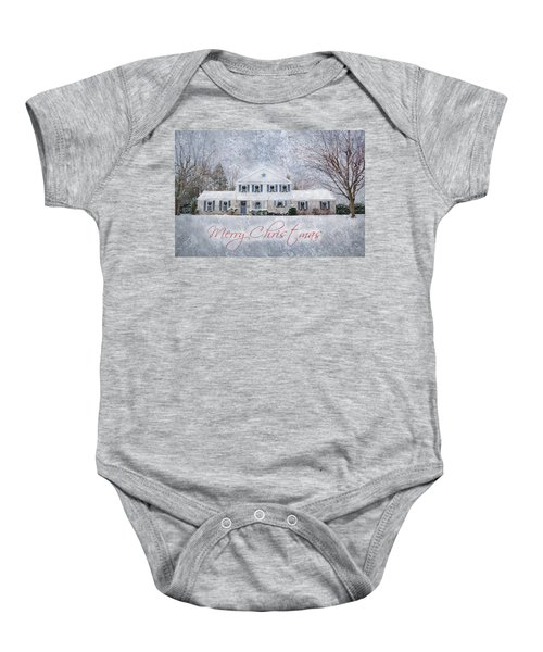 Wintry Holiday - Merry Christmas Baby Onesie