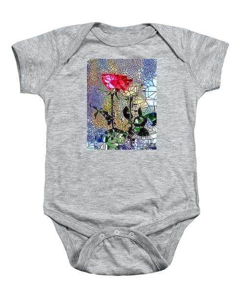 Metalic Rose Baby Onesie