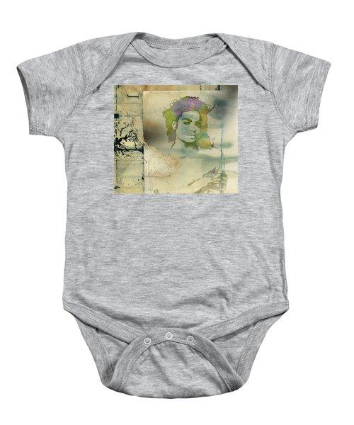 Michael Jackson Silhouette Baby Onesie