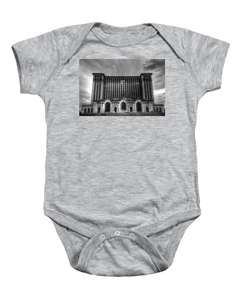 Michigan Central Station Bw Baby Onesie