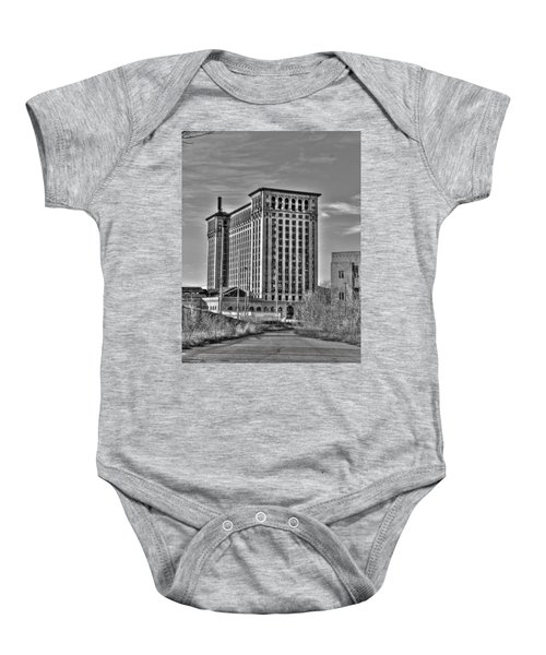 Michigan Central Station Baby Onesie