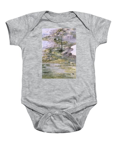Minerva Springs Terraces Yellowstone National Park Baby Onesie