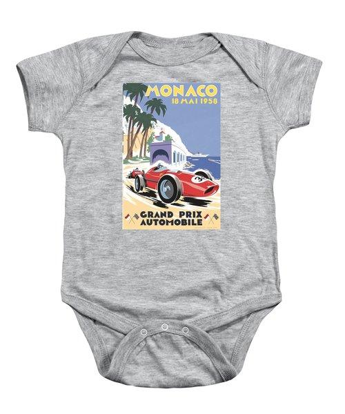 Monaco Grand Prix 1958 Baby Onesie