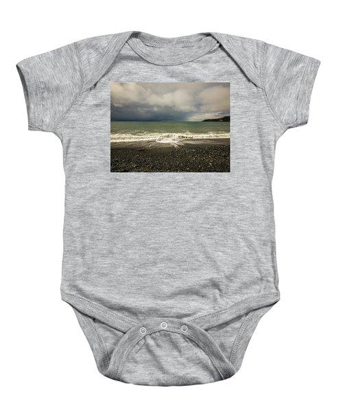 Moody Swirl French Beach Baby Onesie
