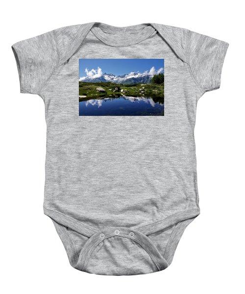 Mountain Lake  Baby Onesie