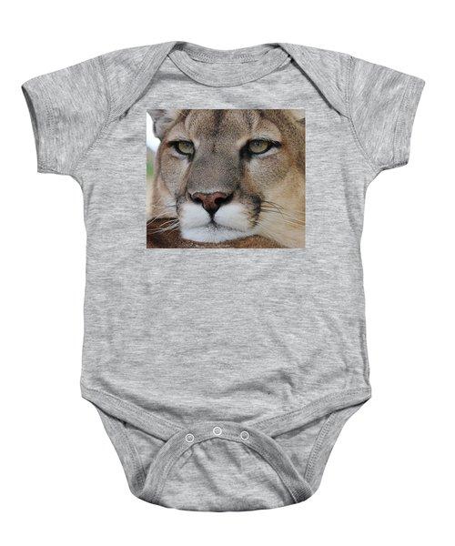 Mountain Lion Portrait 2 Baby Onesie