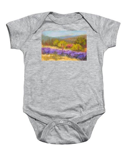Mountainside Lavender   Baby Onesie