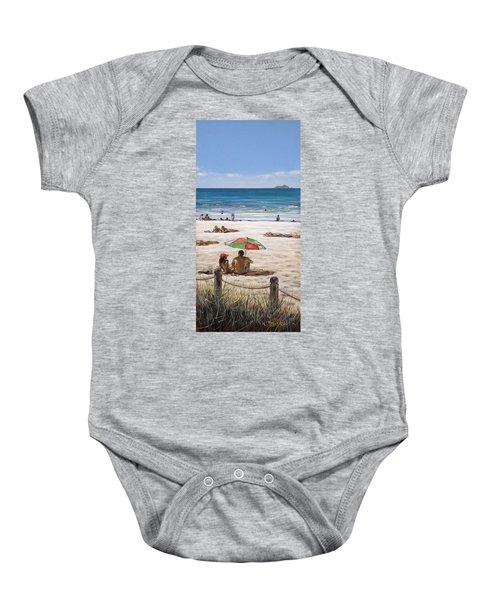 Mt Maunganui Beach 090209 Baby Onesie