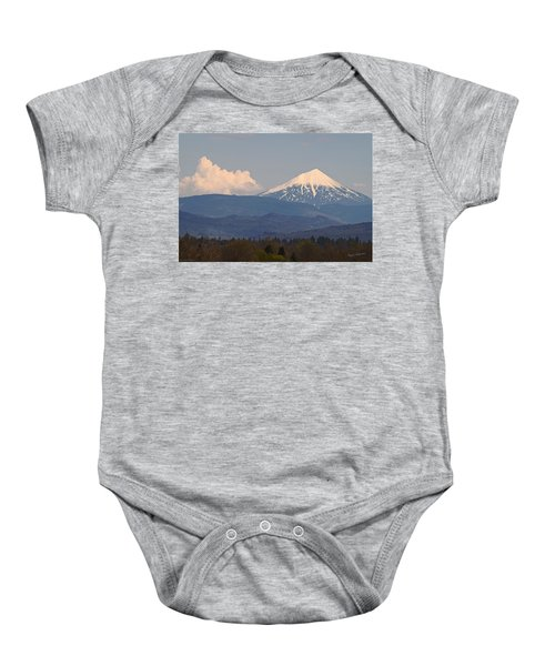 Mt Mclaughlin And Spring Cumulus Baby Onesie
