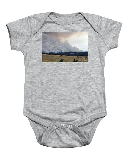 Myrtle Fire West Of Wind Cave National Park Baby Onesie