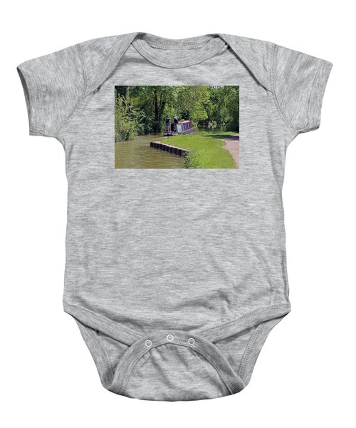 Narrowboat On Oxford Canal Baby Onesie