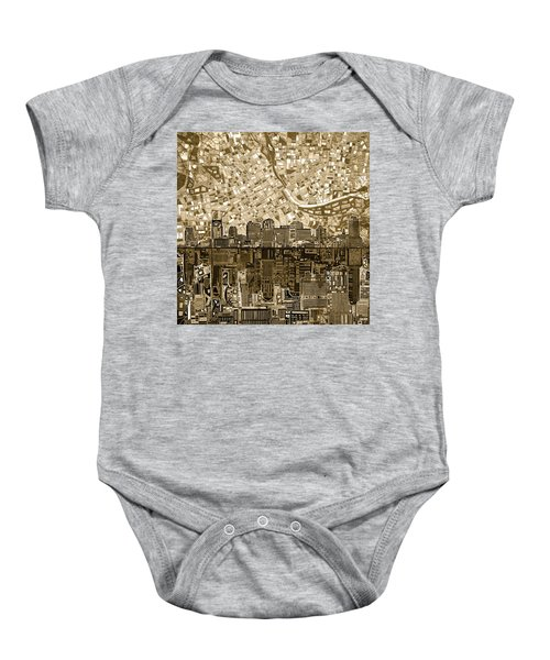 Nashville Skyline Abstract 6 Baby Onesie