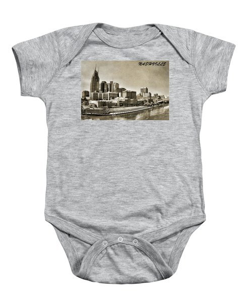 Nashville Tennessee Baby Onesie by Dan Sproul