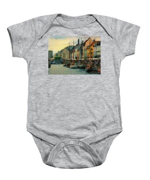 Nayhavn Street Baby Onesie