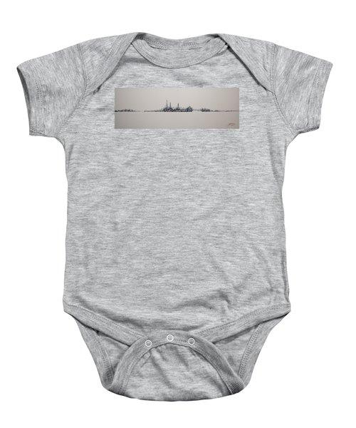 New York City 2013 Skyline 20x60 Baby Onesie