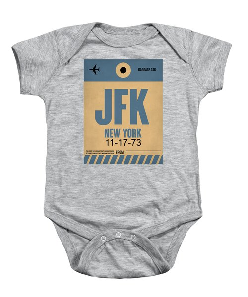 New York Luggage Tag Poster 2 Baby Onesie