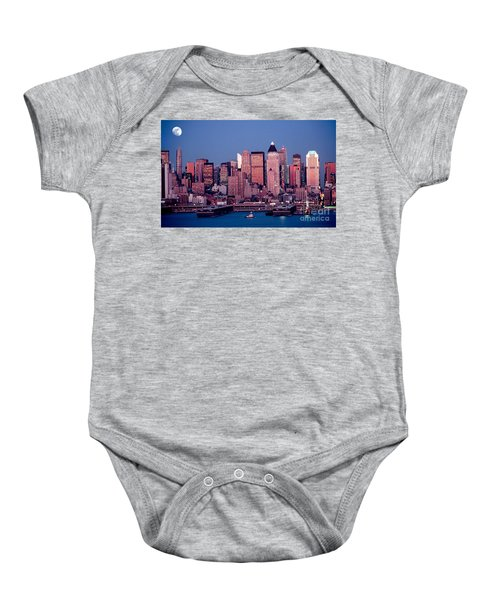 New York Skyline At Dusk Baby Onesie