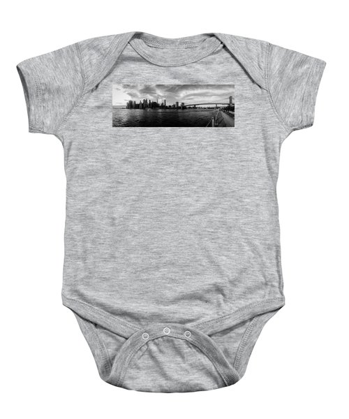New York Skyline Baby Onesie by Nicklas Gustafsson
