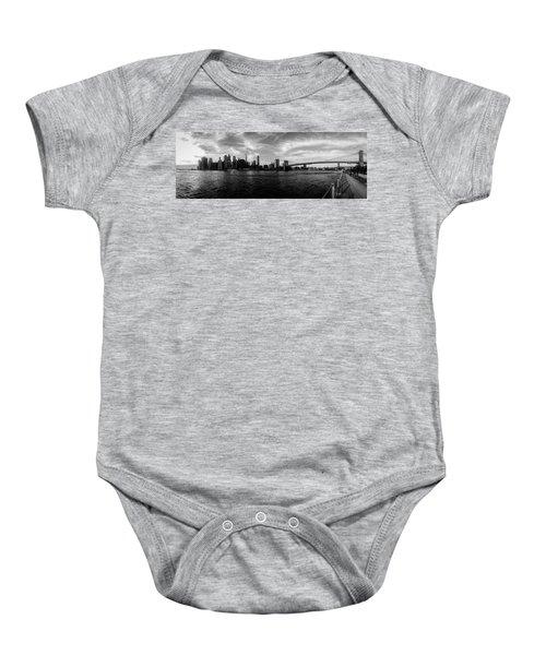 New York Skyline Baby Onesie