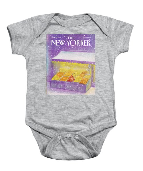 New Yorker January 12th, 1981 Baby Onesie