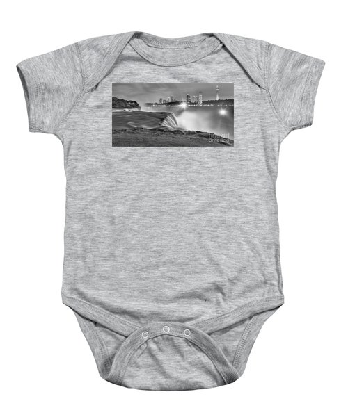 Niagara Falls Black And White Starbursts Baby Onesie