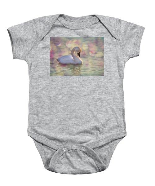 Shy Swan Baby Onesie
