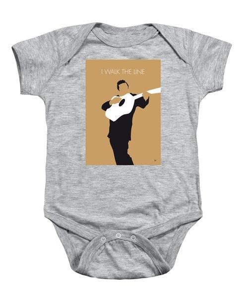 No010 My Johnny Cash Minimal Music Poster Baby Onesie