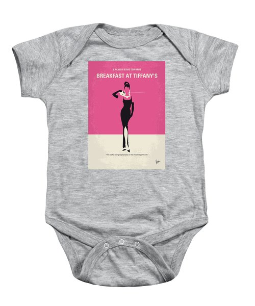 No204 My Breakfast At Tiffanys Minimal Movie Poster Baby Onesie by Chungkong Art