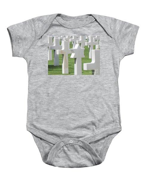 Normandy American Cemetery Baby Onesie