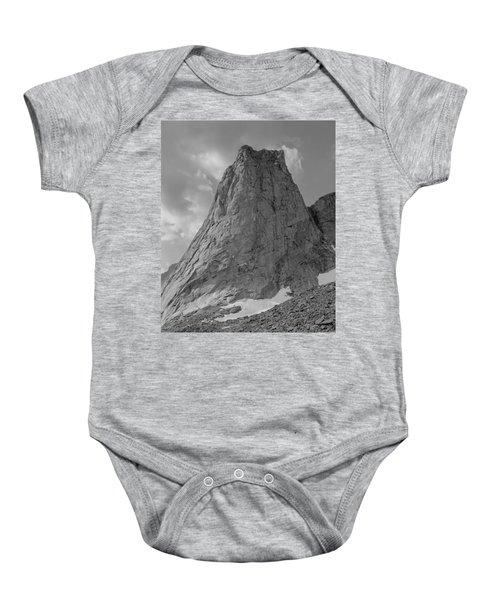 109649-bw-north Face Pingora Peak, Wind Rivers Baby Onesie