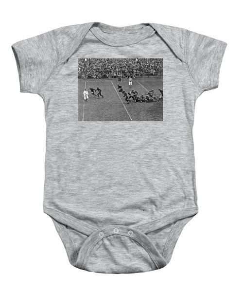 Notre Dame Versus Army Game Baby Onesie by Underwood Archives