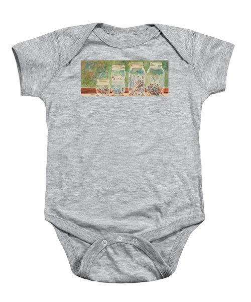 Nuts And Bolts Impression Baby Onesie