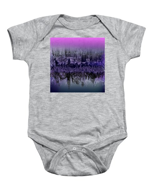 Nyc Tribute Skyline Baby Onesie