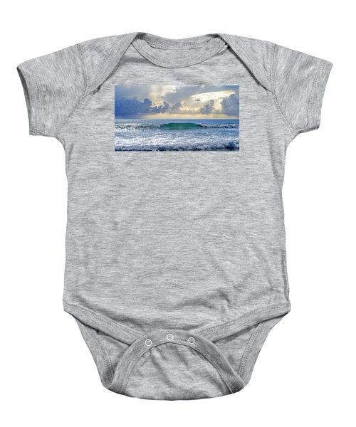 Ocean Blue Baby Onesie