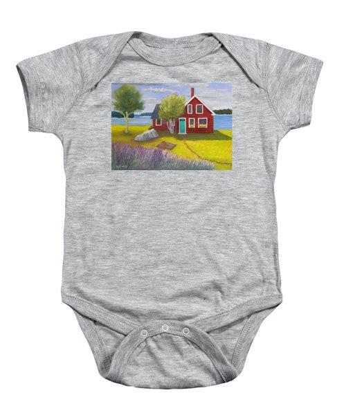 Ocean Cottage Baby Onesie